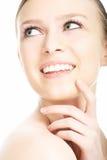 Gesicht der jungen Frau des Schönheitsnahaufnahmeportraits Lizenzfreie Stockbilder