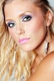 Gesicht der jungen Frau mit schönen Augen Lizenzfreie Stockfotos