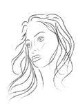Gesicht der jungen Frauen Stockfotos