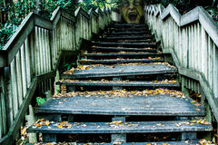 Gesicht an der Oberseite der Treppen Stockfotos