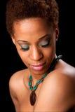 Gesicht der schönen afrikanischen Frau Lizenzfreies Stockfoto