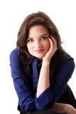 Gesicht der schönen Geschäftsfrau stockfoto