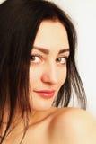Gesicht der schönen jungen Frau Frische gesunde Haut stockbilder