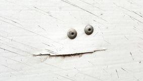 Gesicht in der Schlammklappe Stockbild