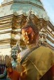 Gesicht der Stellung von Buddha bei Wat Phra That Doi Suthep in Chiangmai, Thailand Lizenzfreies Stockbild
