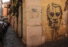 Gesicht der Straßenkunst stockbild