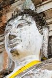 Gesicht des alten Buddha-Denkmales Lizenzfreie Stockfotos