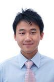 Gesicht des asiatischen Geschäftsmannes Stockfotos