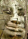 Gesicht des Bayon Tempels Lizenzfreie Stockfotos