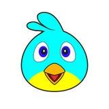 Gesicht des glücklichen Vogels - Illustration Stockfoto