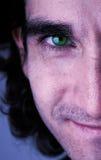 Gesicht des grünen Auges Stockfoto
