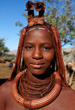 Gesicht des himba Mädchens Lizenzfreies Stockfoto
