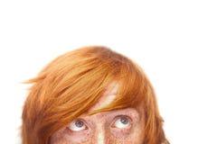 Gesicht des jungen Mannes mit Freckles stockbilder