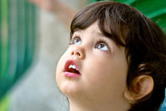 Gesicht des Kindes Stockbild