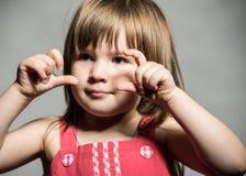 Gesicht des kleinen Mädchens Lizenzfreies Stockbild