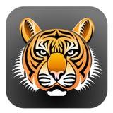 Gesicht des realistischen Tigers Lizenzfreies Stockfoto