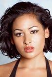 Gesicht des schönen Latino Stockbild