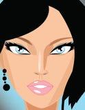 Gesicht des schönen Mädchens lizenzfreie abbildung
