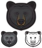 Gesicht des schwarzen Bären Stockbilder