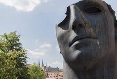 Gesicht des Sun und der Kathedrale Stockbild