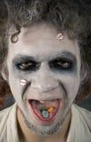 Gesicht des verrückten Mannes Lizenzfreie Stockbilder