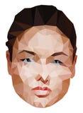 Gesicht einer Frau gemacht mit Dreieck, Vektor eps10 Lizenzfreie Stockfotografie