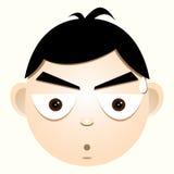 Gesicht eines Jungen, der Schock ausdrückte Lizenzfreie Stockfotos