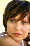 Gesicht eines jungen Mädchens Stockfotos