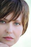 Gesicht eines jungen Mädchens Lizenzfreie Stockfotos