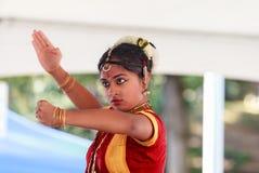 Gesicht eines klassischen indischen Tänzers Lizenzfreies Stockbild