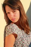 Gesicht eines schönen Mädchens Stockbilder