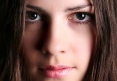 Gesicht eines schönen Mädchens Stockbild