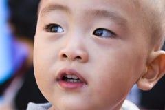 Gesicht eines zweijährigen alten Jungen Lizenzfreie Stockfotografie