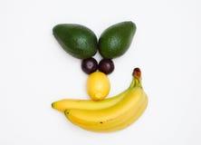Gesicht gebildet von den Früchten lizenzfreie stockfotografie
