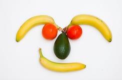 Gesicht gebildet von den Früchten lizenzfreie stockbilder