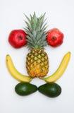 Gesicht gebildet von den Früchten stockfotos