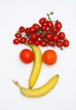 Gesicht gebildet von den Früchten stockfotografie