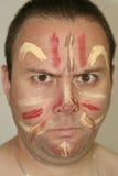 Gesicht gemalt Stockfotografie