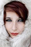 Gesicht im Pelz Stockfoto