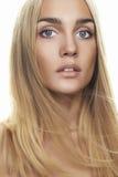 Gesicht junger Frau Beautful Lizenzfreies Stockbild
