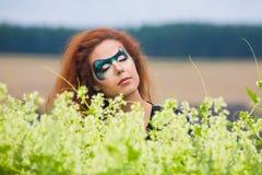 Gesicht-Kunst Portrait einer schönen Frau Lizenzfreies Stockbild