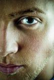 Gesicht und Auge des jungen Mannes Stockfoto