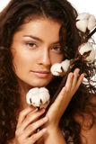 Gesicht und Baumwolle lizenzfreie stockfotos