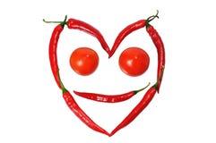 Gesicht vom paprica und von den Tomaten Lizenzfreie Stockfotografie