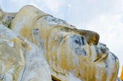 Gesicht von altem stützendem Buddha Lizenzfreie Stockfotografie