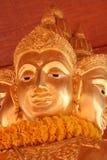 Gesicht von Buddha Stockfoto