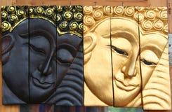Gesicht von Buddha gebildet durch handgemachtes Lizenzfreies Stockbild