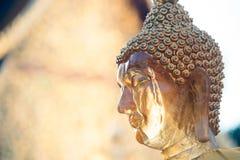 Gesicht von Buddha im Freien in Wat Phra That Doi Suthep in Chiangmai, Thailand Lizenzfreies Stockbild