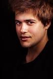 Gesicht von einem stattlichen reizvollen jungen Mann Stockfotos