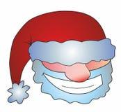 Gesicht von Santa Claus stock abbildung